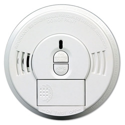 Kidde Safety Front-Load Battery-Operated Smoke Alarm w/ Mounting Bracket, Hush feature