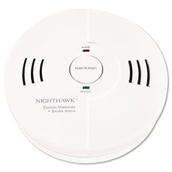 Kidde Safety Battery Powered Night Hawk® Combination Smoke/CO Alarm with Voice/Alarm Warning