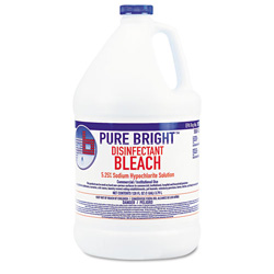 KIK Pure Bright Liquid Bleach, 1 gal Bottle, 6/Carton
