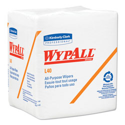 WypAll* L40 Wipers, White, Case of 18