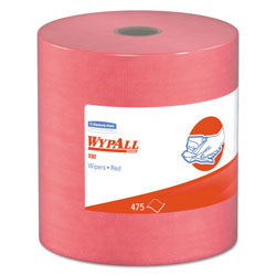 WypAll* X80 Jumbo Roll Towels, 12 1/2 x 13 3/8, Red, 425Sheets/Roll