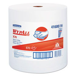 WypAll® X70 Workhorse Cleaning Wipes Roll, White