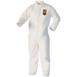 Kleenguard® A40 Coveralls, White, Large, 25/Case