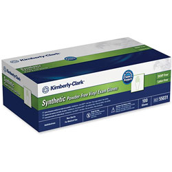 Kimberly-Clark 55033 Clear Non Latex Powder Free Exam Gloves, Large