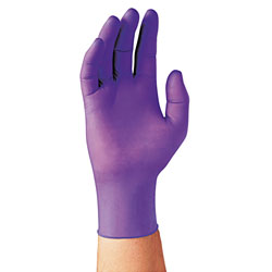 Kimberly-Clark PURPLE NITRILE Exam Gloves, 242 mm Length, Large, Purple, 100/Box