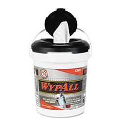 WypAll® Wipers in a Refillable Bucket, 10 x 13, 220/Bucket