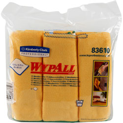 WypAll® Microfiber Cleaning Cloth, Yellow, Pack of 6