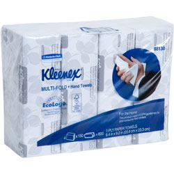 Kleenex Multifold Paper Towels, 9 1/5 x 9 2/5, White, 150/Pack, 16/Carton