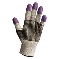 KleenGuard* G60 Purple Nitrile Gloves, 250 mm Length, X-Large/Size 10, Black/White, Pair
