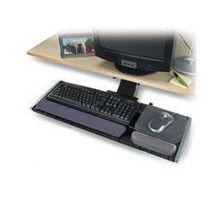 Kensington Adjustable Keyboard Platform with Articulating Arm, Wrist Rest & Mouse Pad, Gray