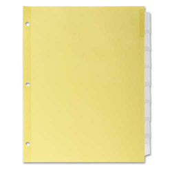 Kleer-Fax 8-Tab Indexed Sheet Dividers, Clear