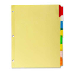 Kleer-Fax 5-Tab Indexed Sheet Dividers, Assorted Colors