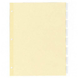 Kleer-Fax Recycled Index Tabs, Clear