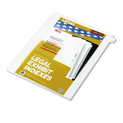 "Kleer-Fax ""A"" Index Tabs, White"