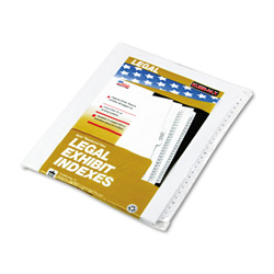 Kleer-Fax A-Z Index Tabs, White