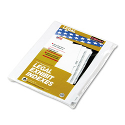 "Kleer-Fax ""Exhibit J"" Index Tabs, White"