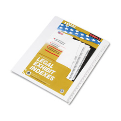 "Kleer-Fax 90000 Series Legal Exhibit Index Dividers, 1/25 Side Cut, Label ""1""-""25"""