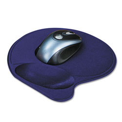 Kensington Wrist Pillow Extra-Cushioned Mouse Pad, Nonskid Base, 8 x 11, Blue