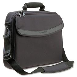 Kensington 62148 Clam Shell Notebook Computer Case, Shoulder Strap & Handle, Black