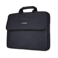 "Kensington SP 17 17"" Laptop Sleeve, Padded Interior, Interior/Exterior Pockets, Black"