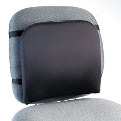 Kensington Memory Foam Backrest, 14 1/4w x 1 3/4d x 13 1/4h, Black