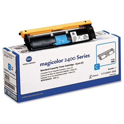 QMS 1710587003 Toner, 1500 Page-Yield, Cyan