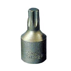 "K Tool International 1/4"" Drive Chrome Vanadium Steel Torx Socket T 25"