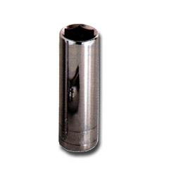 "K Tool International 1/4"" Drive Deep 6 Point Chrome Socket 5.5 mm"