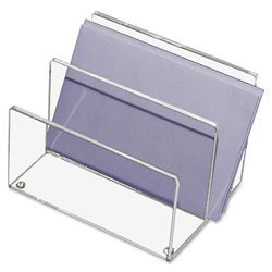 "Kantek Clear Acrylic Mini Sorter, Two 1 3/4"" Compartments"
