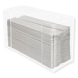 Kantek Countertop C Fold Multi Paper Towel Dispenser Clear Hotellerie Tabletop