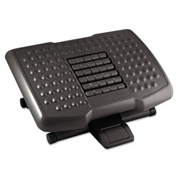 "Kantek Footrest w/ Rollers, Adjustable, 18""x13""x4"", Black"