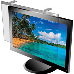 "Kantek Glass Monitor Filter for 17 18"" LCD Monitor, Silver"