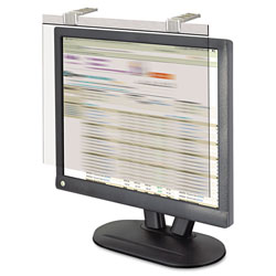 "Kantek Glass Monitor Filter with Privacy Screen for 17 18"" Monitor, Silver"