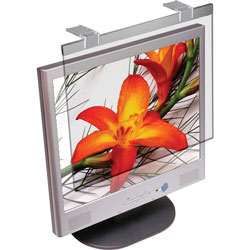 "Kantek Glass Monitor Filter for 19 20"" LCD Monitor, Silver"