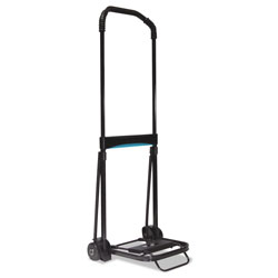 Kantek 110 lb. Capacity Ultra Lite Folding Cart, 9 3/4 x11 Platform, Black