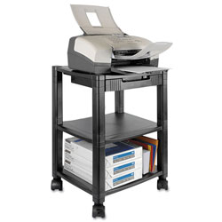 Kantek PS540 Desk Side 3-Shelf Moblie Printer/Fax Stand, Black