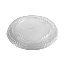 Dart Container L14N Conex Straw Slotted Translucent Plastic Lids For 12 and 14 Ounce Cold Cups