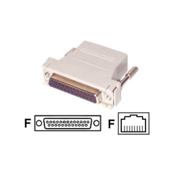 Startech DB25 To RJ45 Modular Adapter - Serial Adapter