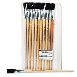 Charles Leonard Flat, Long Handle Easel Brush