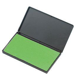 "Charles Leonard Foam Ink Pad, 2 3/4"" x 4 1/4"", Non Toxic, Reinkable, Green"