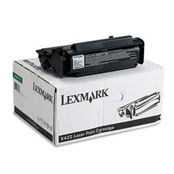 Lexmark High Yield Toner Cartridge for X422, Return Program, Black