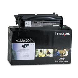 Lexmark Return Program Toner Cartridge for T430, Black
