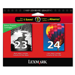Lexmark No. 23/24 Ink Cartridge For Z845 Printer, Return Program, Black/Color