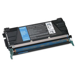 Lexmark Toner Cartridge for C522/C524 Laser Printers, Return Program, Cyan