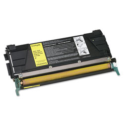 Lexmark Toner Cartridge for C522/C524 Laser Printers, Return Program, Yellow