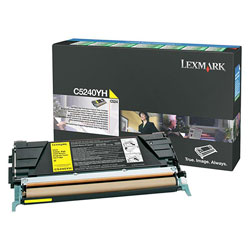 Lexmark Toner Cartridge for C524 Laser Printers, Return Program, High Yield, Yellow