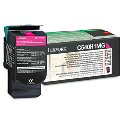 Lexmark C540H1MG Toner Cartridge, High-Yield, Magenta