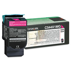 Lexmark C544X1MG Toner Cartridge, Extra High-Yield, Magenta