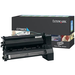 Lexmark Print Cartridge for C770, C772 Series, Return Program, Cyan