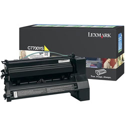 Lexmark Print Cartridge for C770, C772 Series, Return Program, Yellow